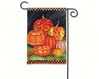 Painted Pumpkins Garden Flag