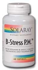 Solaray - B-Stress P.M., 120 Capsules