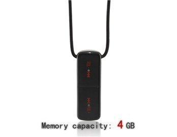 3.5Mm 4G Statistics Tangible Necklace Mp3 Player (Black)