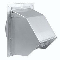 "Broan 647 Wall Cap Aluminum 7"" Round Duct"