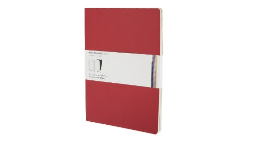 Moleskine Ruled Volant Notebook: Red X-Large