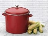 Cuisinart EOS166-30R Enamel Stockpot with Cover, 16-Quart, Red