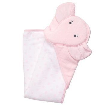 Carter's Baby Pink Elephant Dots Hooded Hoodie Towel, Girl - 1