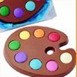 Mothers day gift for mom Solid Milk Chocolate Unique Novelty Gift Boxed Artists Pallet