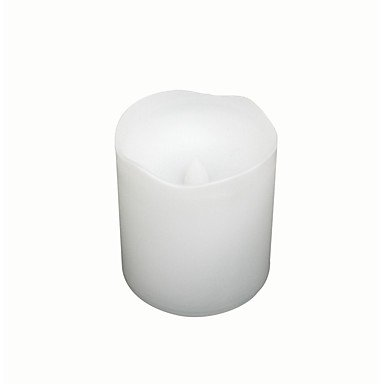 Zcl White Color Plastic Flameless Candle (Led Candle) With Dual-Timer