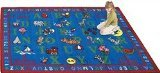 "Joy Carpets Kid Essentials Early Childhood Phonics Fun Rug, Multicolored, 7'8"" x 10'9"" - 1"
