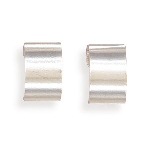 Sterling Silver Polished Earrings Cuff Adjustable Ear Cuffs Measure 7mm Wide - JewelryWeb