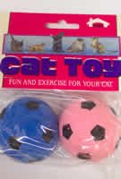 Pet Supply Imports Sponge Soccer Ball Cat Toy 2 Pack