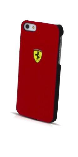 エアージェイ フェラーリ(FERRARI ) 公式ライセンス品 iPhone5専用 スクーデリアラバーコート レッド FESCHCP5RE
