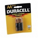 Duracell U.S.A. Alkaline Battery, Aa, 2/Pack front-66484