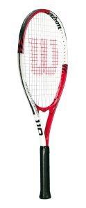 Wilson Roger Federer 27 (110) Tennis Racquet - 27-Inch, Red/White