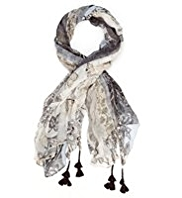 M&S Collection Lightweight Wallpaper Print Scarf