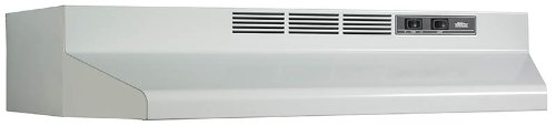 Broan F403601 36-Inch Two Speed 4-Way Convertible Range Hood, White