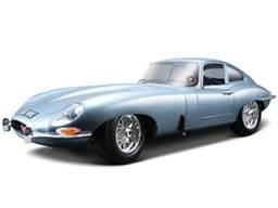 1961 Jaguar E Type Coupe Blue 1/18 Diecast Car Model