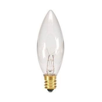 Replacement Light Bulbs for Electric Candle Lamps - 7 Watt, Clear, Pack of 5 Bulbs