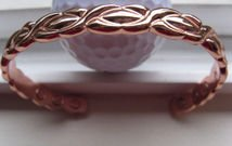 Men's Solid Copper 8 Inch Magnetic Cuff Bracelet #285