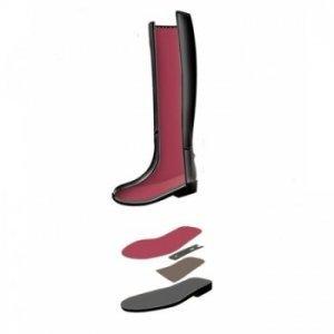 Reitstiefel PVC SWING Slush-Mould schwarz Schaftweite