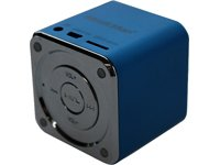MusicMan TXX3530 Mini Soundstation (MP3 Player, Stereo Lautsprecher, Line In Funktion, SD/microSD Kartenslot) blau