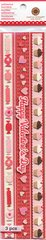 Martha Stewart Crafts Valentine 3D Border Stickers Glitter Accents Cupcake Candy
