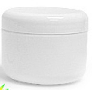 White Plastic Jar with Dome Lid 1 Oz - 12 Per Bag (Plastic Jars 1 Ounce compare prices)