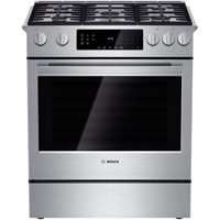 "Bosch Hgi8054Uc 800 30"" Stainless Steel Gas Sealed Burner Range - Convection front-39738"