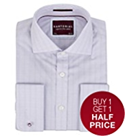 Sartorial Pure Cotton Prince of Wales Checked Shirt