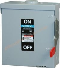 GF321NR Outdoor Fusible Safety Switch 30A 240V by Siemens