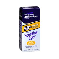 Bausch And Lomb Sensitive Eyes Daily Cleaner For Soft Contact Lenses - 1 oz (Pack of 2)