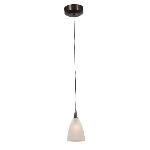 Access Lighting 94019Led-4-Brz/Fst Zeta Mania   One Light Led Canopy Pendant With Frosted Glass Shade, Bronze Finish