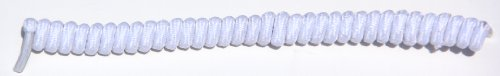 FeetPeople Curly (or Twister) Shoelaces, White (Feet Lace compare prices)