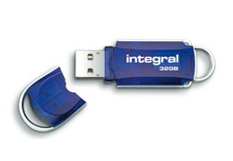 Integral Courier 32Gb High Speed USB 2.0 Flash Drive by Integral
