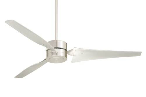 Emerson Hf1160Bs Heat Fan, Indoor Ceiling Fan, 60-Inch Blade Span, Brushed Steel Finish, Brushed Steel Blades front-353334