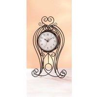 nostalgische Reloj de pie, con estructura schmiedeeisernem, 41cm, Antiguo Art de Pajoma
