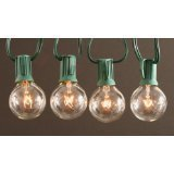 Clear Globe String Lights Set of 25 G40 Bulbs Indoor / Outdoor by Sival/TG