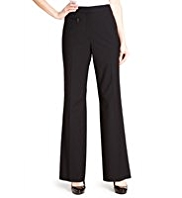 M&S Collection 1 Zip Pocket Straight Leg Trousers