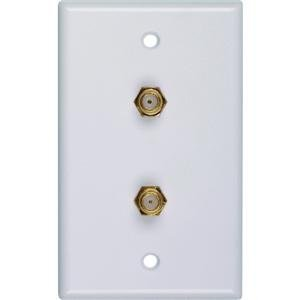 RCA VH128X Coaxial Duplex Wall Plate (White)