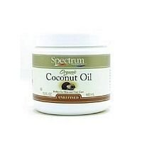 Spectrum Essentials Organic Coconut Oil, Unrefined - 15 Oz, 4 Pack