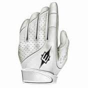Easton Rollover Fast Pitch Batting Gloves, White, Medium (Slow Pitch Batting Gloves compare prices)