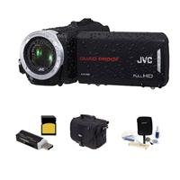 Jvc Gz-R70 Quad-Proof 32Gb Flash Full Hd Camcorder,- Bundle With 32Gb Class 10 Sdhc Card, Video Bag, Cleaning Kit, Sd Card Reader