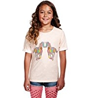 Pure Cotton Lightweight Horse Print T-Shirt