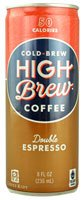 High Brew Coffee Double Espresso -- 8 Fl Oz