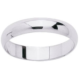 So Chic Jewels - 18k White Gold 4 mm Classic Wedding Band Ring