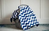 Jagger Blue and White Baby Infant Carseat Cover Canopy - 1