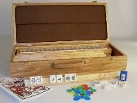 American Mahjong set w Oak case