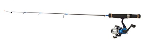 Frabill Panfish Popper Pro 26-Inch Light Ice Fishing Combo, Black