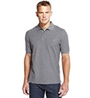 Blue Harbour Slim Fit Pure Cotton Marl Polo Shirt with StayNEW™