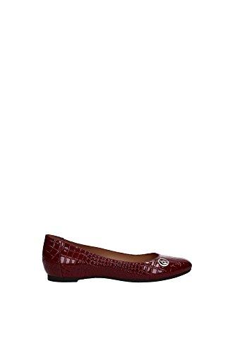 Ballerine Armani Jeans Donna Pelle Bordeaux Z55B232NB Rosso 37EU