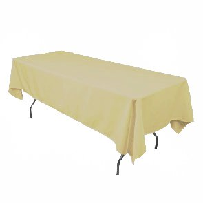 By florida tablecloth gold line rectangular for Table 60x120