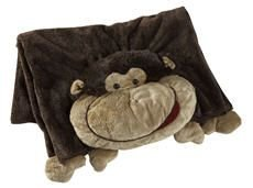 The Original My Pillow Pets Monkey Blanket (Brown)