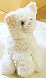 Plush Trixie White Cat 8